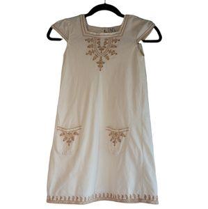 Zara Kids Short Sleeves Embroidered Dress